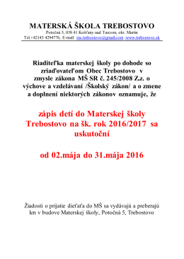 odkaze - Trebostovo