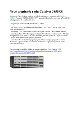 Nové prepínače radu Catalyst 3850XS datovy list