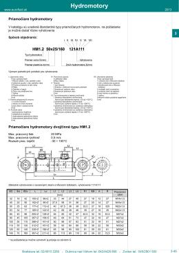 Hydromotory - EUROFLUID