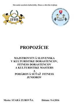 M-SR dorastu 9.4.2016 Stará Ľubovňa