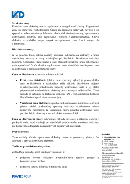 Štruktúra ceny - Východoslovenská distribučná, a.s.