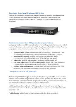Prepínače Cisco Small Business 300 Series datovy list