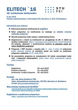 ELITECH_16_informacie pre autorov