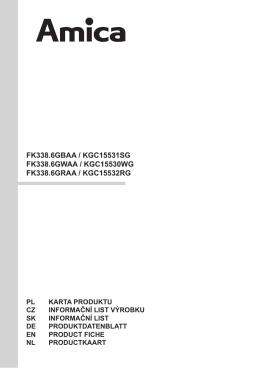 FK338.6GBAA / KGC15531SG FK338.6GWAA / KGC15530WG