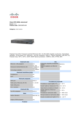 Cisco CISCO876-K9 datovy list