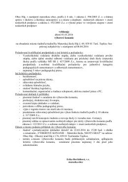 Obec H á j - Obecný úrad H á j, 039 01 Turčianske Teplice