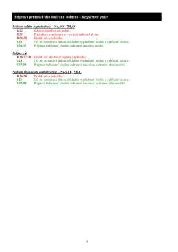 Príprava pentahydrátu tiosíranu sodného – Bezpečnosť práce