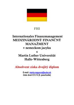 Internacionales Finanzmanagement v nemeckom jazyku