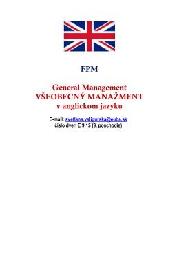 General management v anglickom jazyku