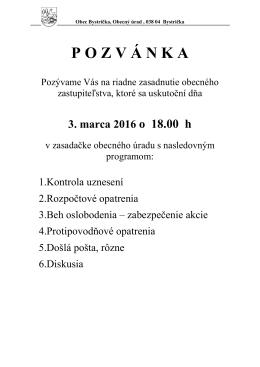POZV Á NKA - Obec Bystrička