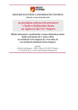 Verejná súťaž pdf.