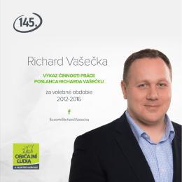 Stiahnuť výkaz práce poslanca Richarda Vašečku aj v PDF