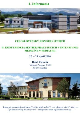 II. Konferencia sestier pracujúcich v intenzívnej medicíne