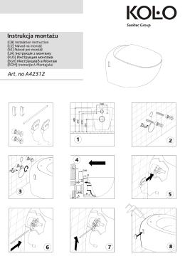 Miska wiszaca EGO, instrukcja montażu