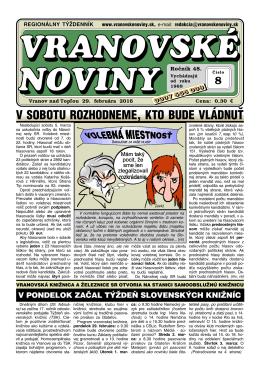vranovske-noviny - Vranovské noviny