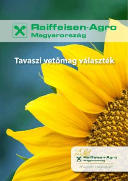 Tavaszi vetőmag választék - Raiffeisen-Agro
