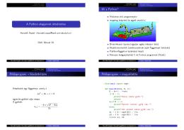 A Python alapjainak áttekintése