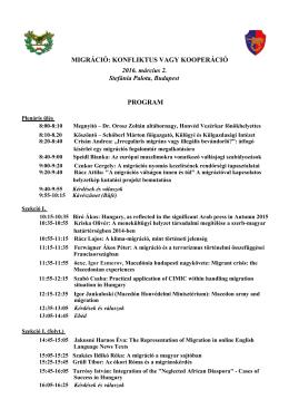 A konferencia programja (konferencia_a_migraciorol_program)