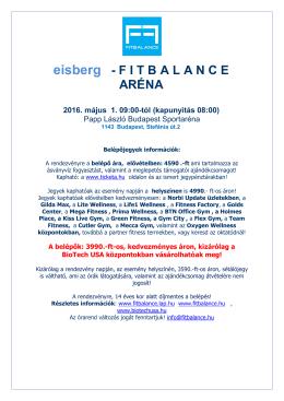 eisberg – FitBalance Aréna Belépőjegyek