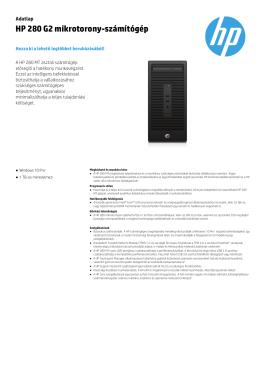 HP 280 G2 mikrotorony