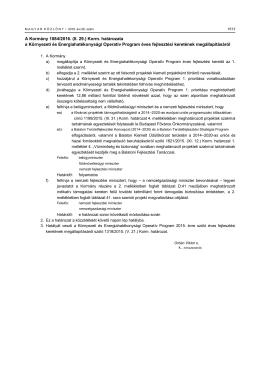 A Kormány 1084/2016. (II. 29.) Korm. határozata a Környezeti és