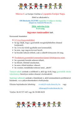 Somogy Megyei Duráczky EGYMI logopédiai óvodája és iskolája