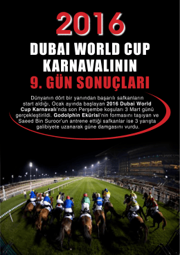 2016 Dubai World Cup Karnavalı