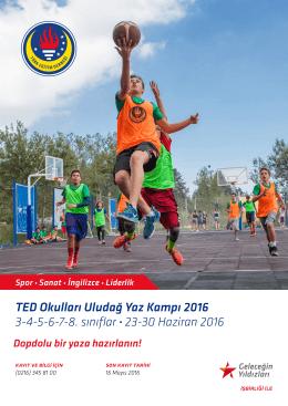 TED Okulları Uludağ Yaz Kampı 2016