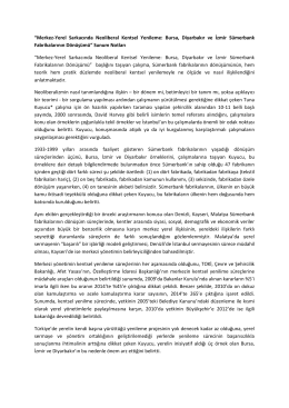 """""""Merkez-Yerel Sarkacında Neoliberal Kentsel Yenileme: Bursa"""