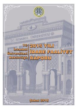 Faaliyet Raporu - İstanbul Üniversitesi