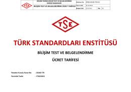 tıklayınız. - Türk Standardları Enstitüsü