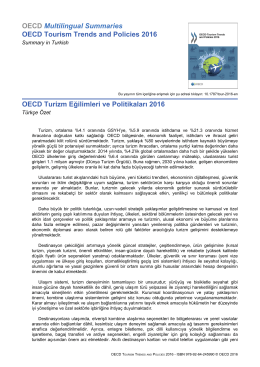OECD Multilingual Summaries OECD Tourism Trends and Policies