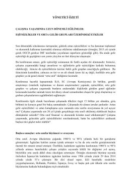 Eşitsizlikler ve Orta Gelir Grupları Üzerindeki Etkiler  pdf