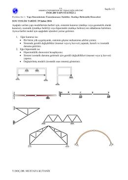 Aşağıda verilen yapı modellerinin herbiri için