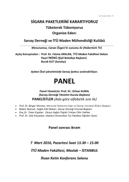 panel - İstanbul Teknik Üniversitesi