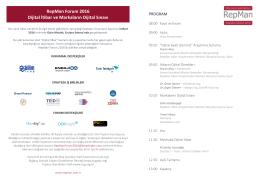 RepMan Forum 2016 Dijital İtibar ve Markaların Dijital Sınavı
