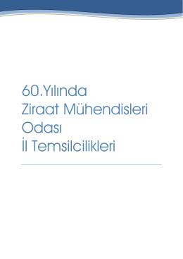 60.Yılında Ziraat Mühendisleri Odası İl Temsilcilikleri
