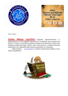 Eğitim Bilişim Ağı(EBA)