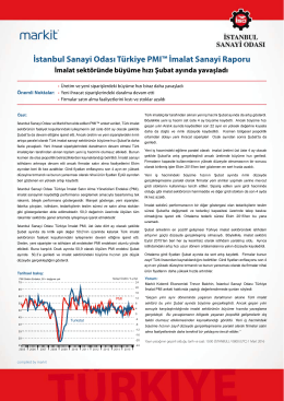 İstanbul Sanayi Odası Türkiye PMI İmalat Sanayi Raporu (Şubat 2016)