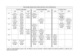 pedagojik formasyon 2016 final sınavı programı