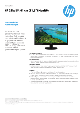 PSG Consumer Monitor Features Datasheet - Hewlett