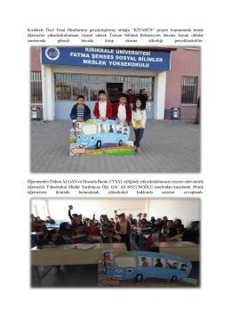 """Kırıkkale Özel Final Okullarının gerçekleştirmiş olduğu """"KİTABÜS"""