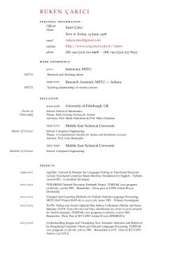 ruken c¸akici - METU Computer Engineering