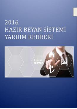 2016 Uygulama Rehberi - İnternet Vergi Dairesi