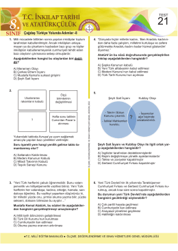 8. sınıf - Ölçme, Değerlendirme ve Sınav Hizmetleri Genel Müdürlüğü