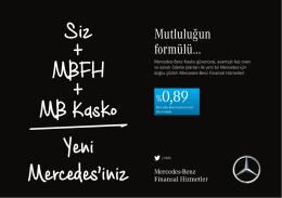 Siz + MBFH + MB Kasko Yeni Mercedes`iniz - Mercedes