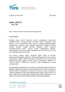 Genel Mektup 748