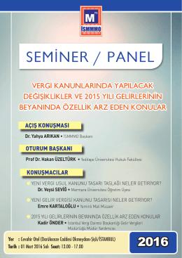 seminer / panel - Yeditepe Üniversitesi Hukuk Fakültesi