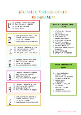 haftalık temizlik düzen listesini indirmek için tıklayınız