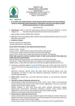 OGEM–VAK - Orman Genel Müdürlüğü